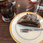 カフェカブトヤマ - アイスフレンドコーヒーとケーキ「ショコラ」