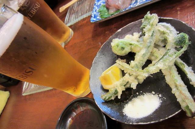 大安 - 春の美味こごみ天ぷら¥280