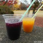 滝のや 屋外売店 - 赤ぶどうジュース&マンゴージュース