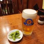 栄華軒 - 2020年2月 生ビール 中 650円