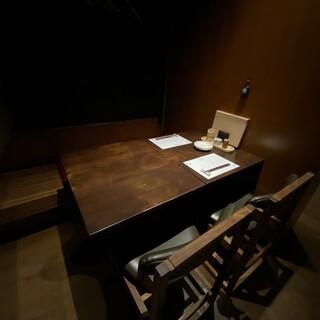 【個室】テーブル席、掘りこたつ席がございます。