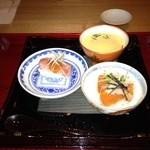 半くり - 茶碗蒸しと寿司