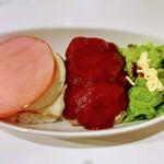 cafe doudou - ロコモコ。こちらのミートローフとても好きです。大ボリュームでお腹いっぱい。