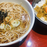 津軽サービスエリア(下り線)スナックコーナー - 津軽そばミニねぶたご飯セット