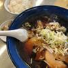 食事処 一久 - 料理写真:正油ラーメンと小ライス 750円