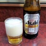 やしろ食堂 - ビール中瓶