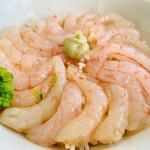 甘えびファクトリー蝦名漁業部 - えびセットの甘えび丼