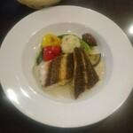 ビストロコバ - 黒鯛のポワレ、バーニャカウダ風ソース