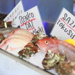 新鮮な旬の魚を頭から尻尾まで愉しめるお店