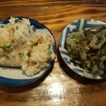 味由 - 副菜(おから、高菜)