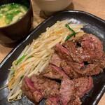 鉄板焼天神ホルモン - ヒレステーキ定食