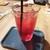 9+ - ドリンク写真:クランベリージュース