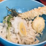 udonizakayaamamenzou - 明石鱧の竹輪天と卵天、カイワレとおろし