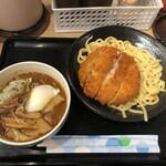 日乃屋カレー - メンチカツカレーつけ麺