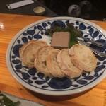 焼鶏処 田楽 - 自家製レバーのパテ