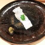 128775732 - 太刀魚の酒蒸しとフキノトウ