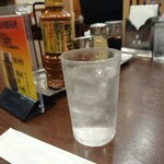 128776960 - お冷と川崎餃子味噌。