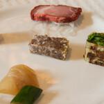 馥香 - 冷菜五種盛りのアップ