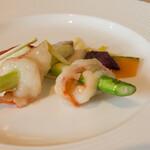 馥香 - 大海老のカンザシ飾り塩旨味炒め