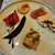アビタコロ - シェフの地元河南町の旬の野菜を使った、凝った前菜5種盛り