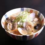 開花屋楽麺荘 - 料理写真:貝菜らぁめん