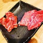 立喰い焼肉 治郎丸 - バラ板栃木県産A5.牛ハラミ