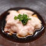 日本橋蛎殻町 すぎた - 肝醤油で