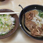 ひろっちゃん - 肉大ねぎめしセット