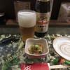 どんど - 料理写真:お通しと瓶ビール