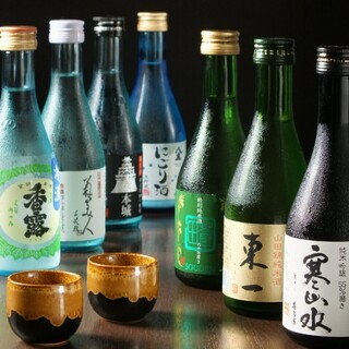 焼酎・日本酒も種類豊富にご用意