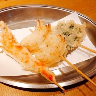 薄衣の串天ぷら