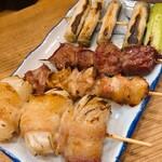 小太郎 - 玉ねぎ肉巻き、ミックス、ハツ、ネギ
