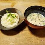 粟 - 麦縄麺 豆乳と白味噌のつけ汁