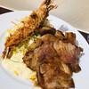 洋食レストラン ロッキー - 料理写真:エビフライと豚ロースの生姜焼き