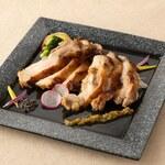 昆布〆若鶏の炙り焼き ~柚子こしょうソース~
