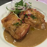 キュル・ド・サック - ランチ 若鶏もも肉のソテー カレークリームソース