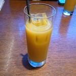 PESCHERIA - セットのドリンク。今回はオレンジにしてみた。