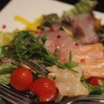 楽処ふるさと - 海鮮カルパッチョサラダ