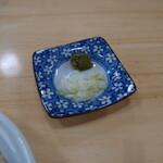 初後亭 - トッピングの柚子胡椒