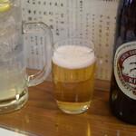 128865424 - 瓶ビールとレモンサワーで乾杯♪