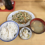 いしはら食堂 - 野菜炒め定食460円