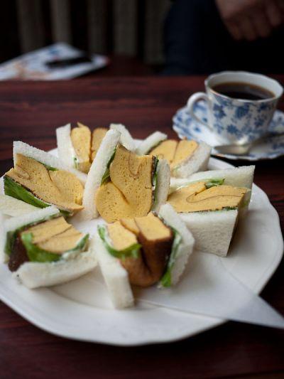 喫茶ポプラ - 喫茶ポプラ 玉子サンド