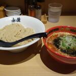 ラーメン玉・赤備 - 赤辛つけ麺980円