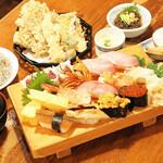 網元料理あさまる - あさまる特製寿司コース