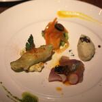足袋のTOBICHI - お魚と旬野菜の前菜4種盛り