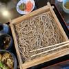 そば処 萬乃助 - 料理写真:板そば大盛り+野菜天丼