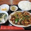 魯園菜館 - 料理写真:玉ネギと豚バラ肉焼肉タレ強火炒め