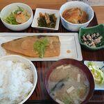 128896780 - おすすめ定食【鯖味噌とあんかけ豆腐】
