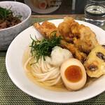 麺屋 坂本01 - 鶏ミックス(試食)、ランチミニ丼セット200円