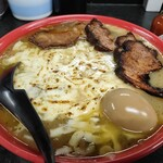 ミヤビ - オニオングラタン麺/チャーシュー/玉子 ¥950/¥300/¥100